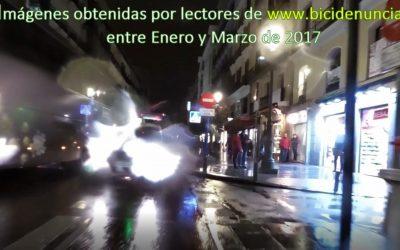 """El """"modelo Madrid"""" de los ciclocarriles, o la eterna doble fila"""